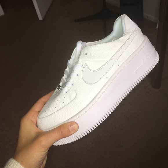 nike platform white sneakers